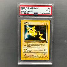 PSA 9 MINT PIKACHU BLACK STAR MOVIE PROMO - WOTC 1999 POKEMON CARD