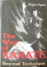 1976 1ST PRINTING THE WAY OF KARATE BEYOND TECHNIQUE SHIGERU EGAMI MARTIAL ARTS