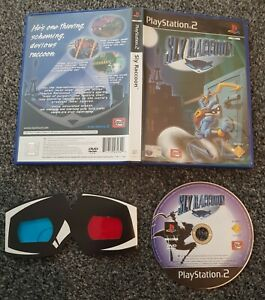 PS2 Sly Raccoon Game With 3D Glasses No Manual PAL Playstation 2