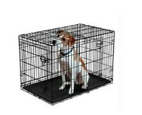 Vibrant Life Double-Door Folding Dog Crate with Divider, 22""