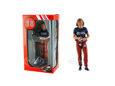 1977 MONACO GP JAMES HUNT SIGNING AUTOGRAPH FIGURE 1/18 LEMANS MINIATURES 180224