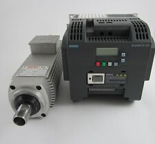 2.2kw spindle motor (air cooled)  and 2.2kw siemens inverter