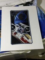 Disney Parks Mickey in an X-Wing Deluxe Print by Brian Blackmore NEW