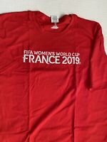 FIFA World Cup 2019 France Men's Short Sleeve T-shirt Red NEW XXL