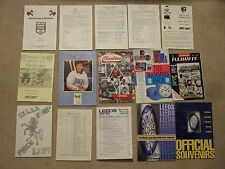 official club shop souvenir list norwich city 1989/90 yellow issue