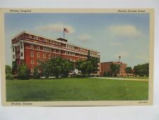 Vintage Early 1900's Postcard - Wesley Hospital, Huton Nurses Home, Wichita, KS