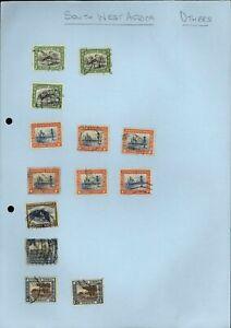 SouthWest Africa Album Page Of Stamps #V13713