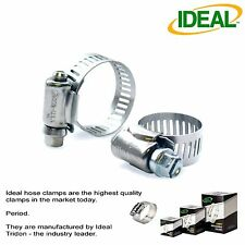 "10 IDEAL Hose Clamps Micro-Gear 1/4 - 5/8"" 6-16mm / 1/8 - 5/16"" 3/8"" Pipe #5202"