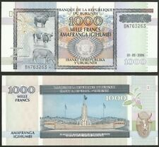 BURUNDI - 1000 francs 2006 P# 39d UNC Africa banknote - Edelweiss Coins