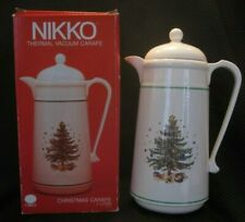 NIKKO Thermal Hot Coffee Carafe HAPPY HOLIDAYS ~ CHRISTMASTIME w/ Original Box
