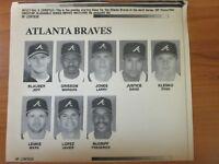 Vintage AP Wire Press Photo 1995 MLB Atlanta Braves Starting Lineup