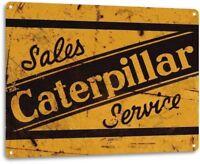 Caterpilar Metal Sign Shop Garage Tractor Heavy Equipment Sign