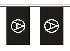 Anarchie polyester noir BRUANT de Drapeau - 3m de long avec 10 DRAPEAUX
