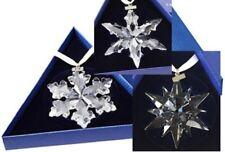 2015, 2016, 2017 Swarovski~ Snowflake STAR Annual Christmas ORNAMENT set/3~ NEW