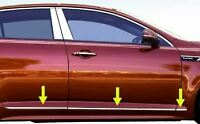 fit:2011-2015 Kia Optima Accent Body Side Molding Trim Flat Stainless 6Pc 3/4""