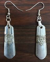 Antique Vintage Spoon Silver Rose Rogers Oneida Earring Silverware Plate Jewelry