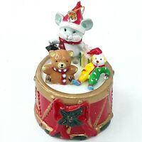 Christmas figure ornament decoration Teddy bear Mouse Clown Drum Plastic Vintage