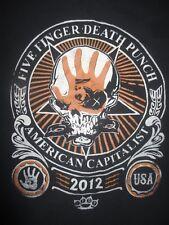 Rare 2012 TRESPASS AMERICA Festival FIVE FINGER DEATH PUNCH Trivium Shirt Emmure