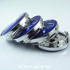 1 SET 59mm Wheel Center Caps For Blue Subaru Impreza Legacy Forester Tribeca STI