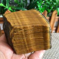 407G Natural tiger's eye stone rough crystal   stone sample healing decoration
