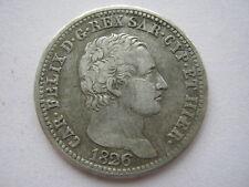 Italian States, Sardinia 1826-L silver Lira 6 over 5?, VF.