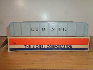 "LIONEL O GAUGE # 214 ""LIONEL"" SLIVER GIRDER BRIDGE AND BOX"