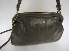 Vintage Grigia In Pelle Borsellino telaio CONVERTIBILE Shoulder Bag Handbag