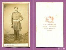 CDV Militaire en pied  Infanterie Second Empire sans son képi Schako Réf A24