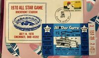 1970 All Star Game Ticket Stub Riverfront Stadium Reds Autograph by Adolph Rupp