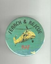 Vintage AVIATION pin RAF pinback SEARCH & RESCUE button HELICOPTER