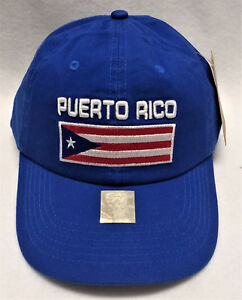 Puerto Rico  Embroidered Blue Cotton Slouch  Flag Hat/Cap -  High Quality!!