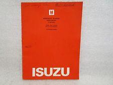 1982 ISUZU P'UP (KB) DIESEL 2WD 4 SPD CALI MODEL WORKSHOP MANUAL SUPPLEMENT