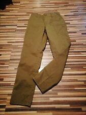 BNWT LADIES H&M SIZE 8 GREEN W26-W28 L28 COTTON STRETCH SLIM LEG ANKLE TROUSERS