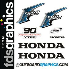 Honda 90hp 4 stroke outboard engine decals/sticker kit - other outputs available