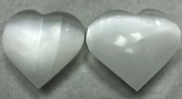 "3"" Selenite Heart Crystal Quartz Natural Stone ( 2 Pieces )"