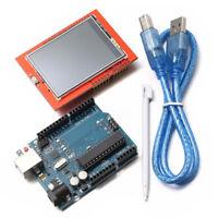 "UNO R3 ATmega328P Board + 2.4"" TFT LCD Touch Screen Module Set For Arduino"