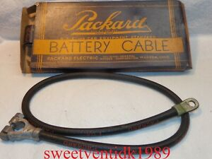 'NOS'...Packard Electric  (+) Battery Cable...1933 -1939 Cadillac,  Graham, Nash