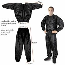 UK Heavy Duty Exercise Gym Running Sweat Sauna Suit Fitness Yoga Sport