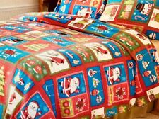 Christmas seasonal fleece blanket with 2 shams size king