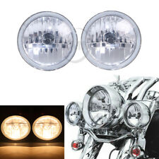 """Motor 4 1/2"""" Dimond Cut Ice Auxiliary Passing Lamp Driving Fog Light For Harley"""