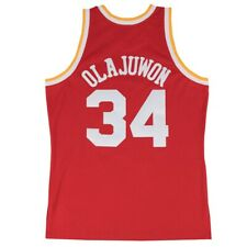 Hakeem Olajuwon Houston Rockets NBA m&n Rojo 1993-94 Swingman Throwback Jersey