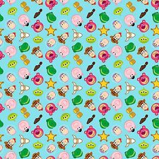 """26"""" Disney  Emojiland Toy Story Character Toss  Fabric"""