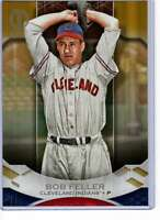 Bob Feller 2019 Topps Tribute 5x7 Gold #74 /10 Indians
