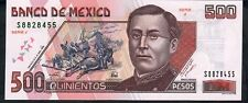 MEXICO P110b 500 PESOS 10 May 1996  serie J      UNC.