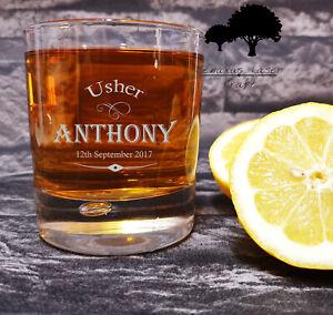Personalised Engraved whiskey Glass Birthday xmas wedding party gift WTA48