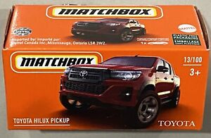 Matchbox Toyota Hilux Pickup Red 2021 New