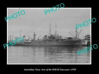 OLD 8x6 HISTORIC PHOTO OF AUSTRALIAN NAVY SHIP HMAS GASCOYNE c1950