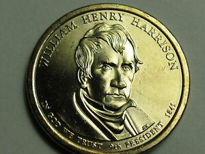 2009 D WILLIAM HENRY HARRISON DOLLAR COIN    AU    FREE SHIPPING