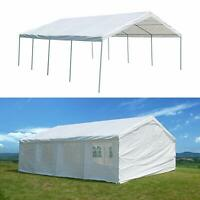 20'x26' Heavy Duty Party Tent Carport Event Wedding Outdoor Canopy White W/ Side