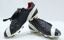 Nomis The Magnet FG Dry Control Leather Retro Football Boots Black/White/Red New